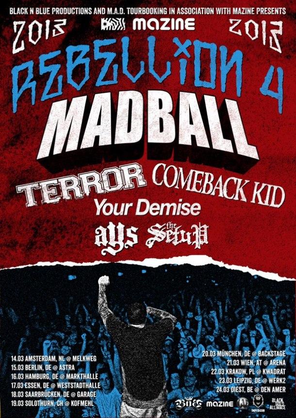 rebellion tour 2013