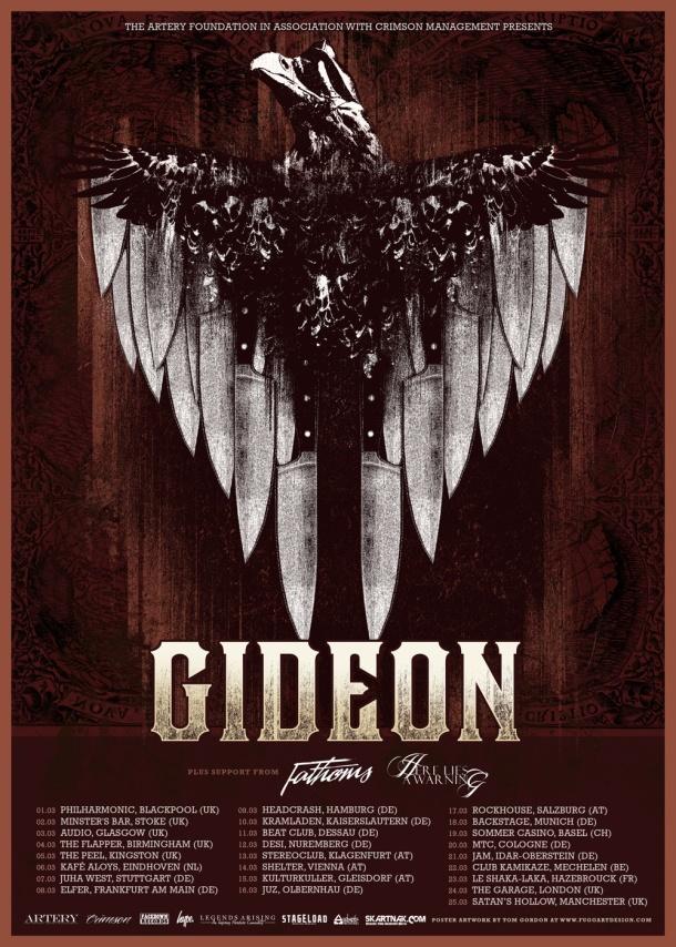 Gideon European Tour Poster
