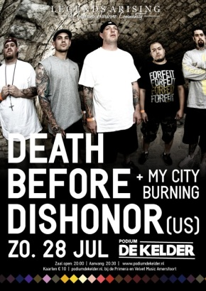 WIN: 2×2 Tickets for Death Before Dishonor @ De Kelder, Amersfoort (NL)