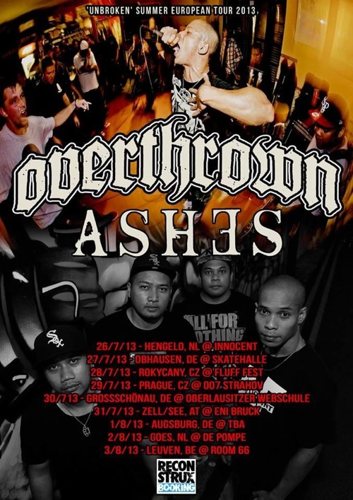 Overthrown European Tour