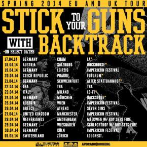 Backtrack to Support Stick To Your Guns on European Tour