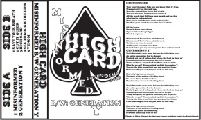High Card Release Two Song Cassette