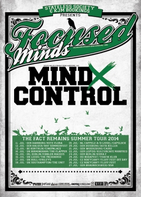 Presents: Focused X Minds and Mind X Control announce European Tour