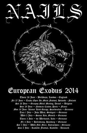 Nails Announce European Summer Tour