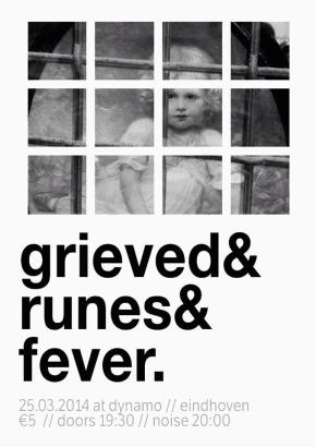 WIN: 2×2 Tickets for Grieved, Runes & Fever @ Dynamo,Eindhoven