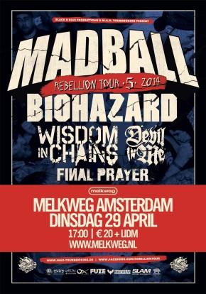 WIN: 2×2 Tickets for Rebellion Tour @ Melkweg,Amsterdam
