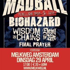WIN: 2×2 Tickets for Rebellion Tour @ Melkweg, Amsterdam