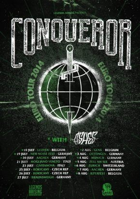 Presents: Conqueror Announce European Tour