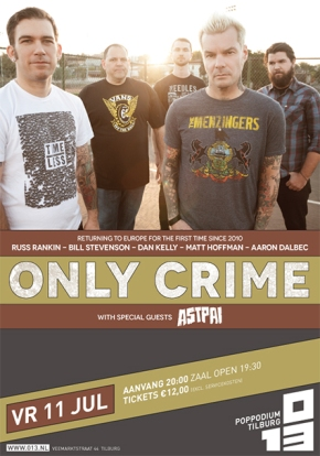 WIN: 2×2 Tickets for Only Crime @ 013,Tilburg