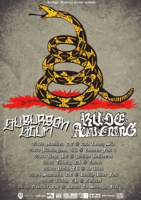 Presents: Rude Awakening and Suburban Scum Finalize European Tour Routing