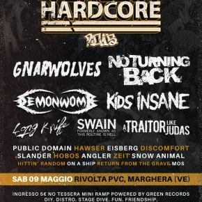 WIN: 2×2 Tickets for Venezia Hardcore Fest @ Rivolta PVC, Venezia