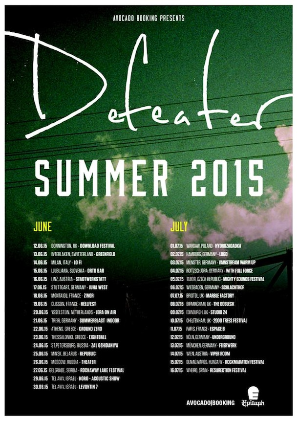 Defeater - European Tour 2015