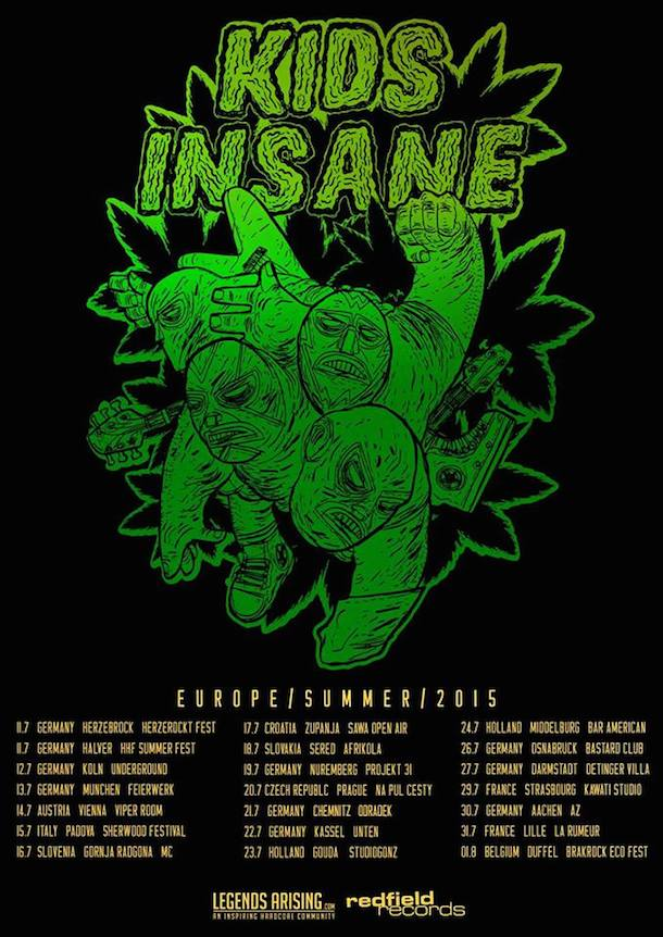 Kids Insane European Summer Tour 2015