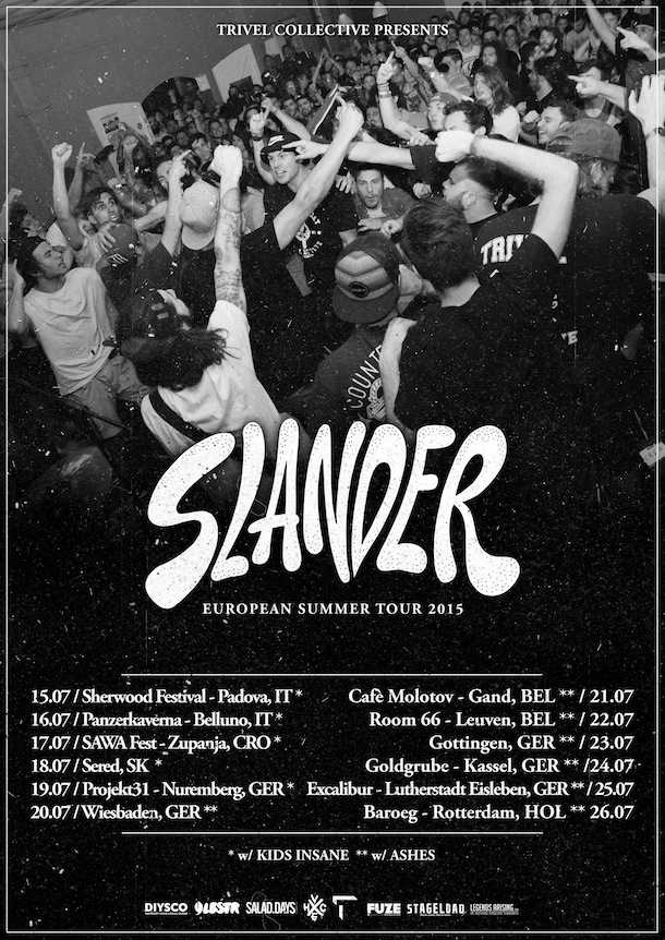 Slander - European Summer Tour 2015