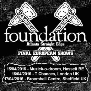 Foundation Announce Final European Shows