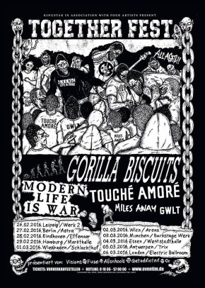 Together Festival with Gorilla Biscuits and Touche Amore Kicks Off Today