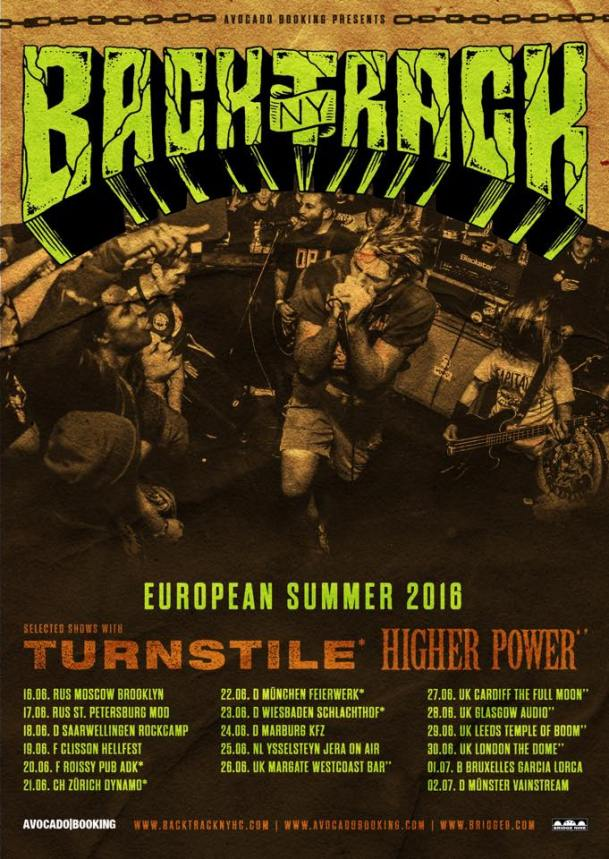 Backtrack - European Tour 2016