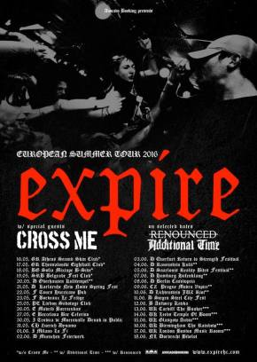 Expire Announce European Tour with Cross Me