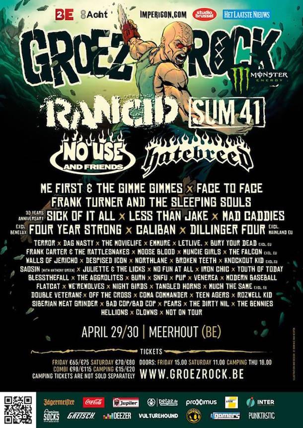 Groezrock Festival Final Poster