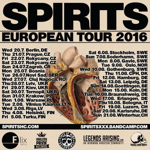 Spirits - European Tour - 2016 - Poster